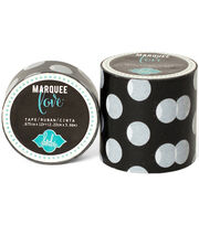 "Heidi Swapp Marquee Love Washi Tape 2""-Black & White Polka Dot, 9', , hi-res"