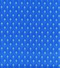 Hi Fashion Cotton Fabric 44\u0022-Feather Blue Gold Metallic