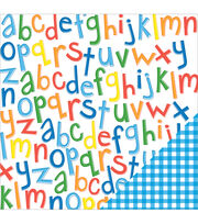 American Crafts School Primary Alphabet Double-Sided Cardstock, , hi-res