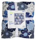 No Sew Fleece Throw 72\u0022-Indigo Large Floral
