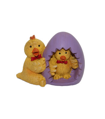 Bloom Room Easter Littles Resin Chick with Egg