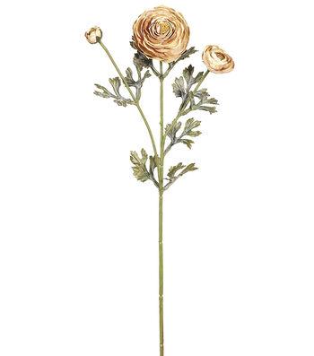 """Bloom Room 25"""" Ranunculus Spray-Camel"""