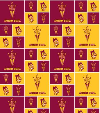 "Arizona State University Sun Devils Cotton Fabric 43""-Block"