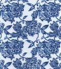 Snuggle Flannel Fabric 42\u0027\u0027-Sapphire Blue Floral