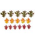 Blooming Autumn Glittered Oak Leaves In Bag