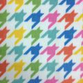 Micro Fleece Fabric- Pastel Houndstooth