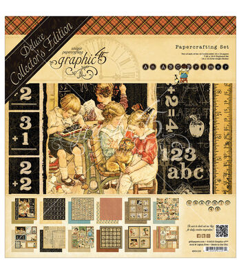 "Graphic 45 Deluxe Collector's Edition Pack 12""X12""-ABC Primer"