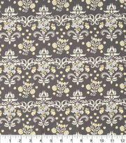 "Keepsake Calico™ Cotton Fabric 43""-Floral Trellis Gray and Yellow, , hi-res"