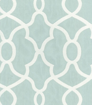"""Kelly Ripa Upholstery Fabric 56""""-Clearly Cool Spa"""