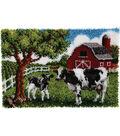 Wonderart Latch Hook Kit 27\u0022X40\u0022-Contented Cows