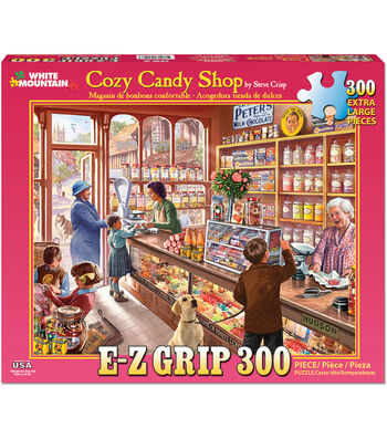 White Mountain Puzzles 24''x30'' Jigsaw Puzzle-Cozy Candy Shop