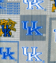 "University of Kentucky Wildcats Fleece Fabric 58""-Gray Box, , hi-res"