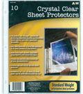 A&W Office Supplies 9.2\u0022X11.2\u0022 Page Protectors 10Pk-Clear