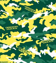 "University of Oregon Ducks Fleece Fabric 60""-Camo, , hi-res"
