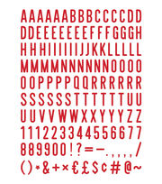 DCWV Home 148 Pack 2'' Letters-Red, , hi-res