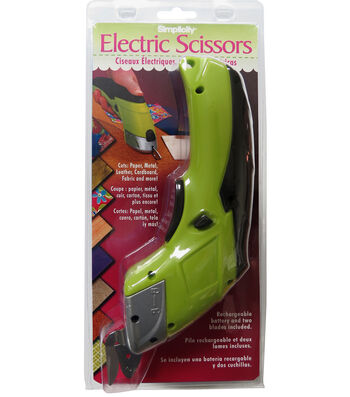 Battery Operated Electric Scissors-Lime Green