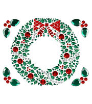 Jolee's Boutique® Holiday Bling Stickers 5pk-Christmas Wreath, , hi-res