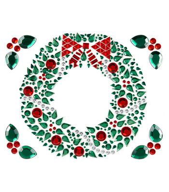 Jolee's Boutique® Holiday Bling Stickers 5pk-Christmas Wreath