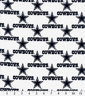 "Dallas Cowboys Cotton Fabric 58""-Logo"