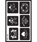 Over \u0027n\u0027 Over Reusable Glass Etching Stencils-Assorted
