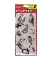 Inkadinkado® Christmas Clear Stamps-Winter Wildlife, , hi-res