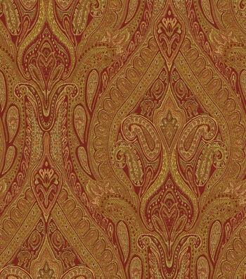 "Waverly Upholstery Fabric 54""-Karaj Paisley Spice"
