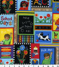 Novelty Cotton Fabric-Back To School Patch