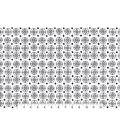 Snuggle Flannel Fabric 42\u0027\u0027-Small Black & White Medallion
