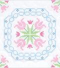 Stamped White Quilt Blocks 18\u0022X18\u0022 6 Pack-XX Lace Tulips