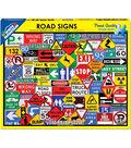 White Mountain Puzzle 550 Pieces 18\u0027\u0027x24\u0027\u0027 Jigsaw Puzzle-Road Signs