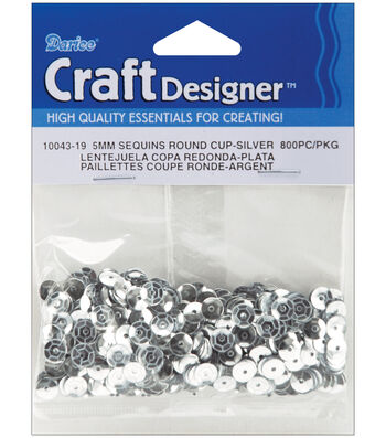 12pk Darice Cupped Sequins 5mm 800/Pkg