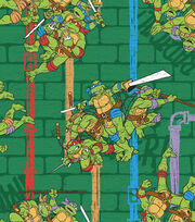 "Teenage Mutant Ninja Cotton Fabric 43""-Sewer and Pipe, , hi-res"