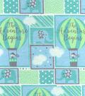 Nursery Flannel Fabric 42\u0027\u0027-Adventure Balloons