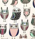 Doodles Cotton Fabric 57\u0022-Owl