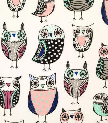 "Doodles Cotton Fabric 57""-Owl"