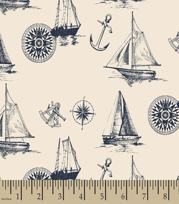 Nautical Print Fabric