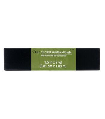 Dritz® 1.5'' Soft Waistband Elastic-Black