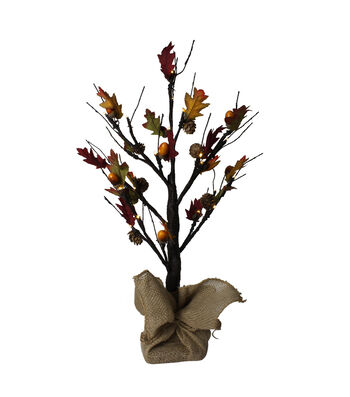 Fall Into Color 2' Maple LED Tree with Acorn