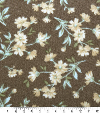 """Silky Crepe Fabric 54""""-Ditsy Floral"""