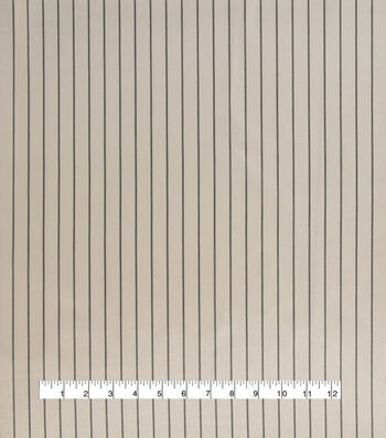 "Anti-Static Lining Fabric 58""-White Stripe on Gray"