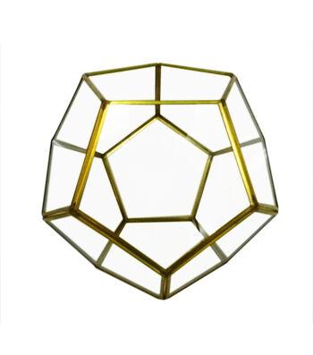Bloom Room Glass & Metal Terrarium-Gold Finished