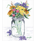 Wildflower Jar Counted Cross Stitch Kit 14 Count