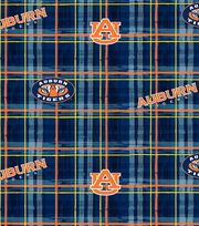 "Auburn University Tigers Cotton Fabric 44""-Plaid, , hi-res"