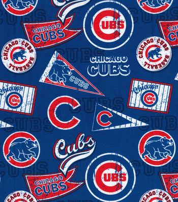 "Chicago Cubs Cotton Fabric 58""-Vintage"