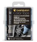 Chameleon 5 pk Color Tops Set-Gray Tones