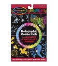 Melissa & Doug Scratch Art Board Set 6\u0022X10\u0022 4/Pkg-Holographic Combo Pack