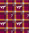 Virginia Tech Hokies Fleece Fabric 58\u0022-Plaid