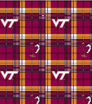 "Virginia Tech Hokies Fleece Fabric 58""-Plaid, , hi-res"