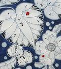 Alexander Henry Cotton Fabric-Lotus Leaf Indigo