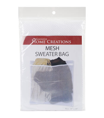 Innovative Home Creations White Mesh Sweater Wash Bag 24''x24''